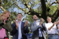 Alberto Núñez Feijóo y Pablo Casado, inauguran en Cerdedo-Cotobade (Pontevedra) el curso político del PP.