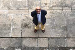 Marino Uceda en el palacio de Jabalquinto de Baeza.