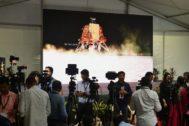 Imagen previa al lanzamiento del módulo espacial indio Chandrayaan-2.