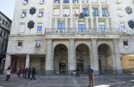 Detalle del edificio de la Audiencia Provincial de Sevilla.