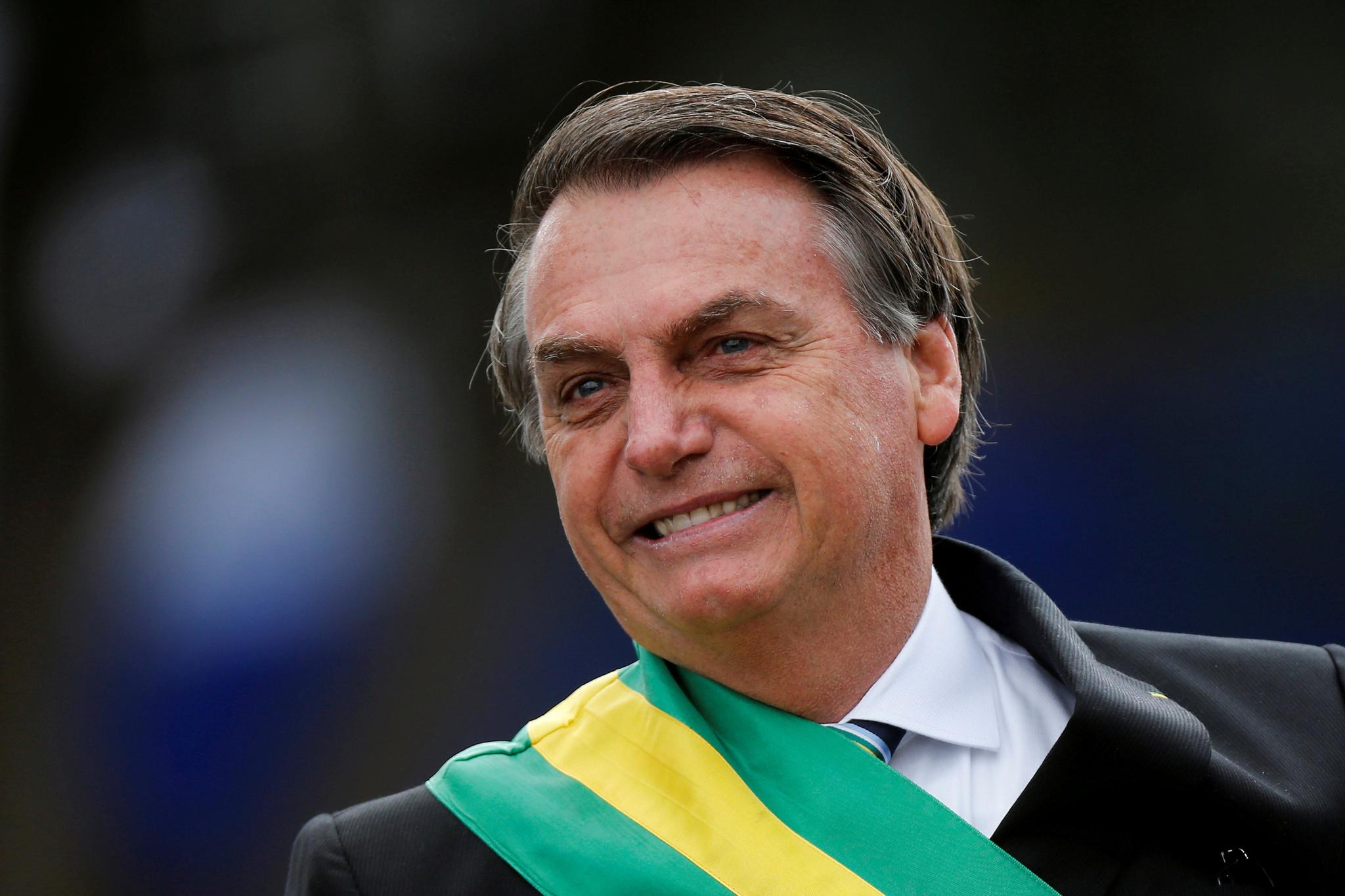 El presidente brasileño, Jair Bolsonaro, durante un acto el pasado 7...