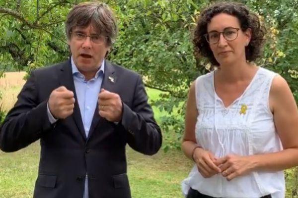 Puigdemont y Marta Rovira en el vídeo difundido por la ANC.
