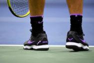 Los pies de Nadal durante el US Open.