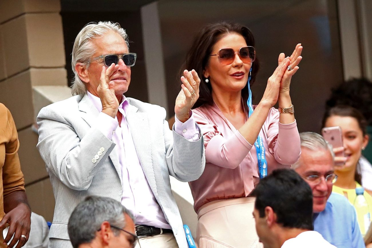 Los actores Michael Douglas y Catherine Zeta-Jones.