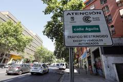 Un cartel advirtiendo de la entrada a la zona de Madrid Central.