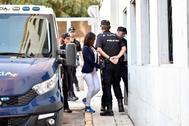 Ana Julia Quezada, a su llegada a los juzgados de Almería.