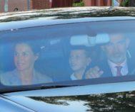 La Princesa Leonor a su llegada al colegio el año pasado