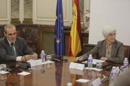 El fiscal jefe de Anticorrupción, Alejandro Luzón, y la fiscal general del Estado, María José Segarra.
