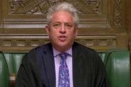 John Bercow, en el Parlamento británico.