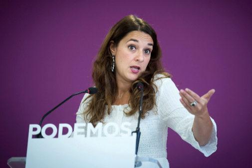 GRAF5106 MADRID, La portavoz de Podemos, Noelia Vera, durante una...