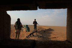 Combates contra el IS en Deir Ezzor, frontera entre Irak y Siria (2018)