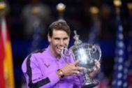 Rafa Nadal tras ganar en EEUU.