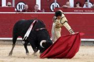 Natural de Cristian Pérez al primero de su lote, este lunes en Albacete.