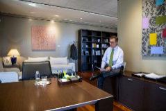 El consejero delegado de Bankia, José Sevilla, en su despacho de una de las Torres Kio.