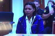 Ana Julia Quezada, instantes antes de iniciar su declaración.