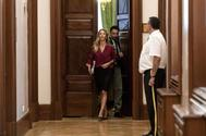 Cayetana Álvarez de Toledo, a la salida de la Junta de Portavoces del Congreso.
