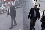 El periodista Jamal Khashoggi llega al consulado saudí en Turquía.