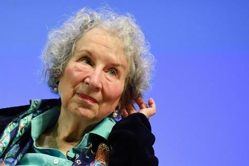 Margaret Atwood en la presentación de 'Los Testamentos' en Londres.