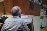 Imagen del procesado durante su declaración en el tribunal