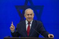 El primer ministro israelí Benjamin Netanyahu anucia su promesa de anexionar el Valle del Jordán si sale reelegido.
