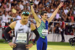 Bruno Hortelano, tras los 400 metros en Vallehermoso.