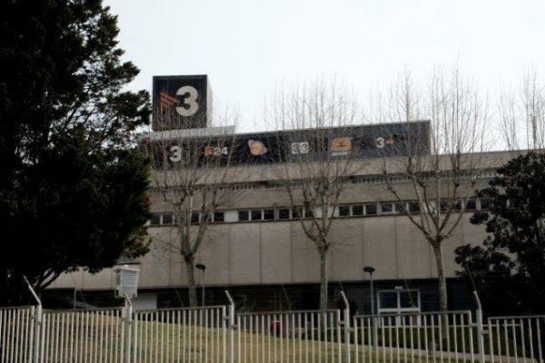 Fachada de los estudios centrales de Televisió de Catalunya en Sant Joan Despí