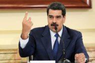 Nicolás Maduro atiende a una reunión en el Palacio de Miraflores, en Caracas.