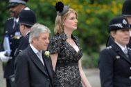 John Bercow y su mujer Sally en la boda del príncipe Guillermo con Kate Middleton