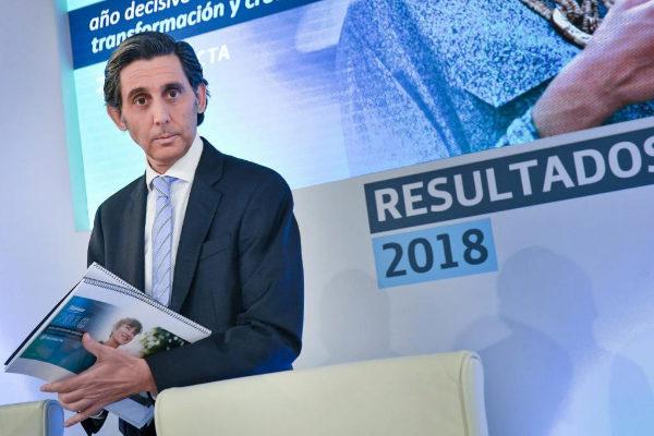 José María Álvarez-Pallete, presidente ejecutivo de Telefónica, en...