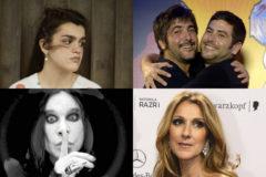 De aizqda. a dcha., y de arriba a abajo, Amaia, Estopa, Ozzy, Celine Dion.