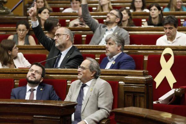 Imagen de un Pleno en el Parlamento catalán.