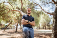 El jefe de guionistas de 'La casa de papel', fotografiado en Madrid.