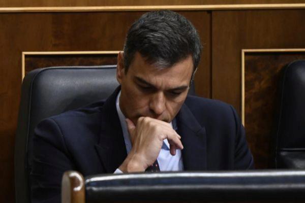 Pedro Sánchez, ayer, en el Congreso.