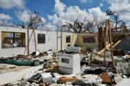 Una casa destruida tras el paso del huracán Dorian por Gran Bahama.