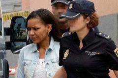 Ana Julia Quezada, en la Audiencia Provincial de Almería este miércoles.