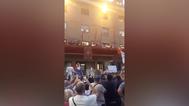 La alcaldesa de Móstoles, abucheada durante el pregón.
