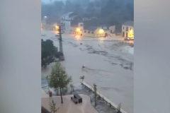 Alerta roja por temporal: inundaciones y desalojos  en Ontinyent