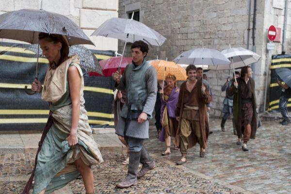 Extras en el rodaje de 'Juego de tronos', en septiembre de 2015, en Girona.