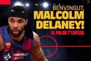Imagen de la bienvenida del Barça a Delaney.