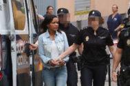 Ana Julia Quezada, autora confesa del asesinato del niño Gabriel Cruz, en su llegada a la Audiencia Provincial de Almería este miércoles.