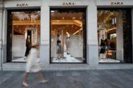 ista de la fachada de una de las tiendas de la cadena Zara en Madrid.