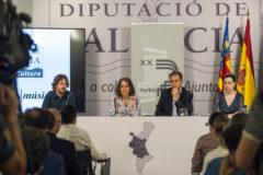 Antonio Galera, Glòria Tello, Josep Vidal e Inés Sevilla, este miércoles, durante la presentación.