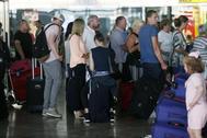 Pasajeros en el Aeropuerto de Alicante-Elche