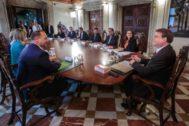 El pleno del Gobierno valenciano, en una de sus reuniones.