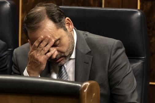 El ministro de Fomento en funciones, José Luis Ábalos, en el...
