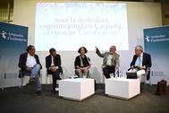 Coloquio con Ana Palacio, Fernando Savater, Francesc de Carreras y José Domingo, durante la presentación de Impulso Ciudadano.