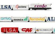 Una ilustración de varias compañías ferroviarias.