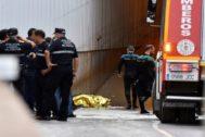 Rescate del cuerpo de la persona fallecida en Almería.
