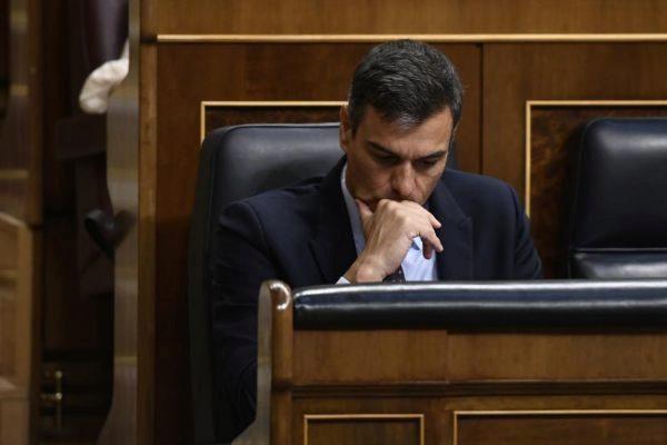 Pedro Sánchez, durante el último Pleno del Congreso.