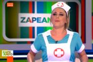 Valeria Ros se disfraza de enfermera sexy en Zapeando y provoca la indignación del Sindicato de Enfermería